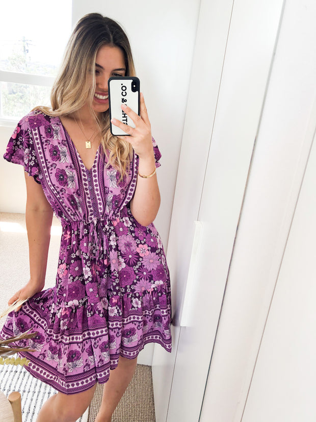 Marina Dress - Purple Print