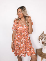 Ula Dress - Orange Print