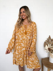 Solsa Dress - Orange Print
