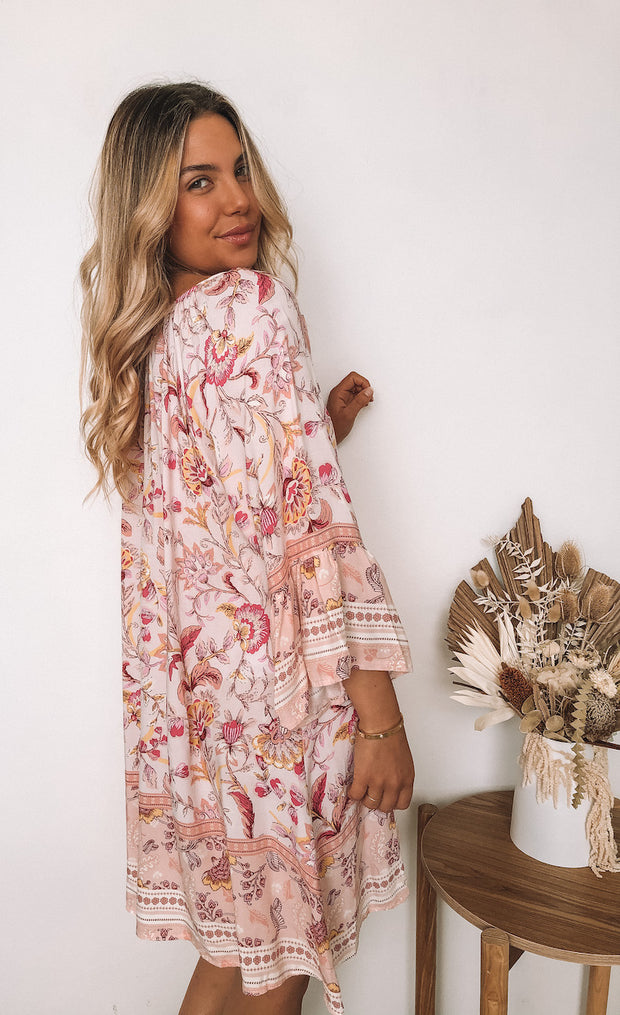 Gypsia Tunic - Cream Print