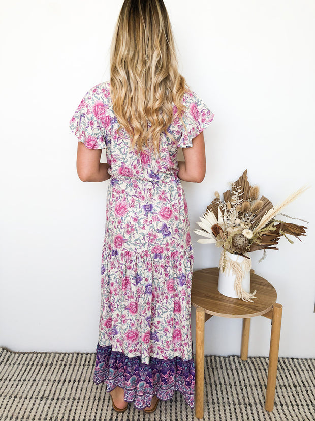 Kailey Dress - Purple Print