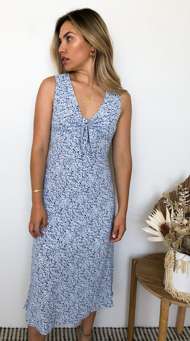 Winnie Dress - Blue Print