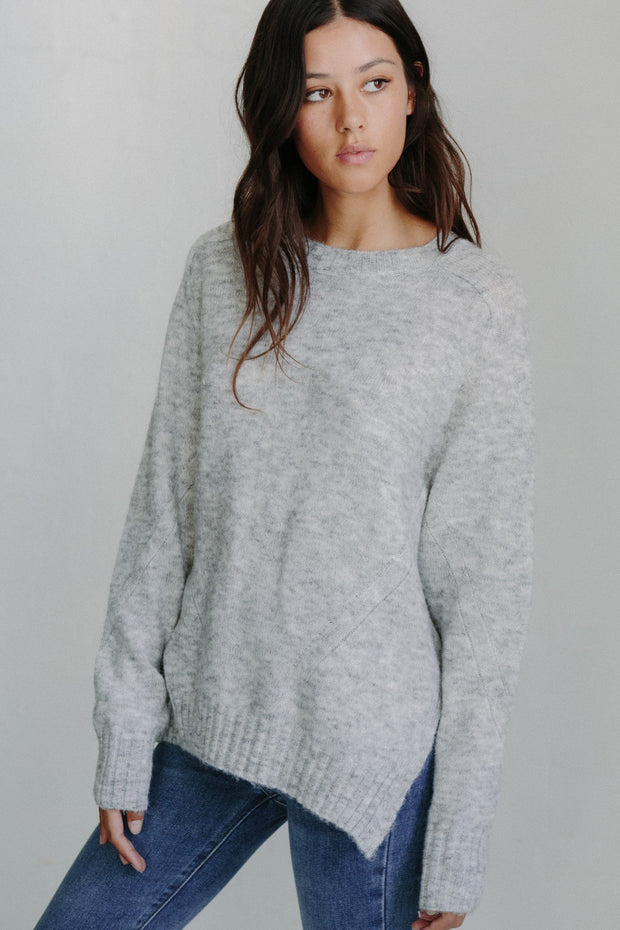 Pia Knit - Grey-Tops-Womens Clothing-ESTHER & CO.