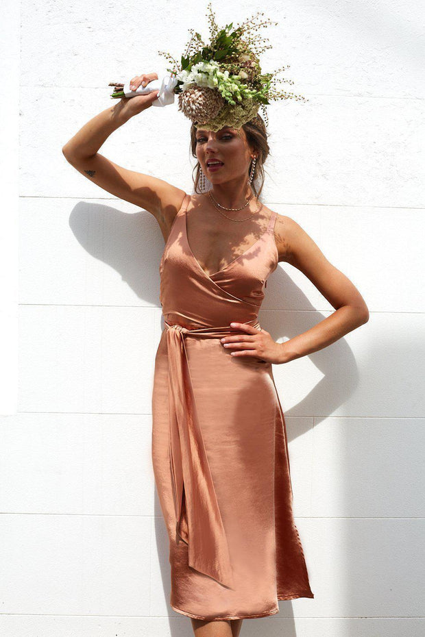 Preorder Poppy Dress - Bronze-Dresses-Womens Clothing-ESTHER & CO.