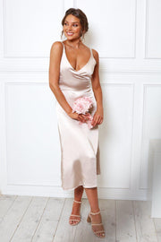 Preorder Poppy Dress - Champagne-Dresses-Womens Clothing-ESTHER & CO.