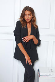 Power Blazer - Black-Jackets-Womens Clothing-ESTHER & CO.