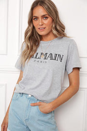 Preorder Faintly Top - Grey-Tops-Womens Clothing-ESTHER & CO.