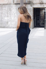 Fleur Strapless Dress - Navy-Dresses-Esther Luxe-ESTHER & CO.