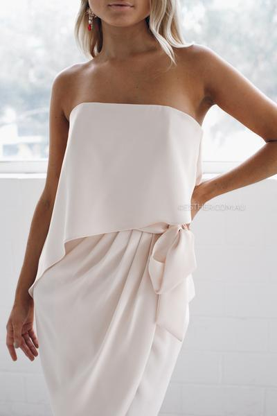 Fleur Strapless Dress - Nude-Dresses-Esther Luxe-ESTHER & CO.
