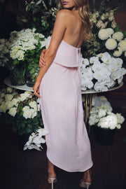 Fleur Strapless Dress - Pink-Dresses-Esther Luxe-ESTHER & CO.