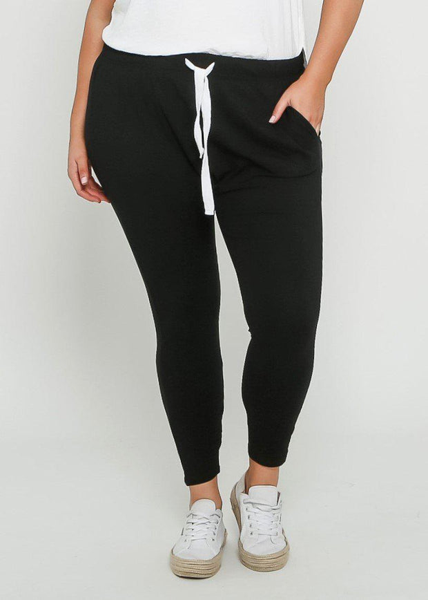 Preorder Tana Track Pants - Black-Pants-Womens Clothing-ESTHER & CO.