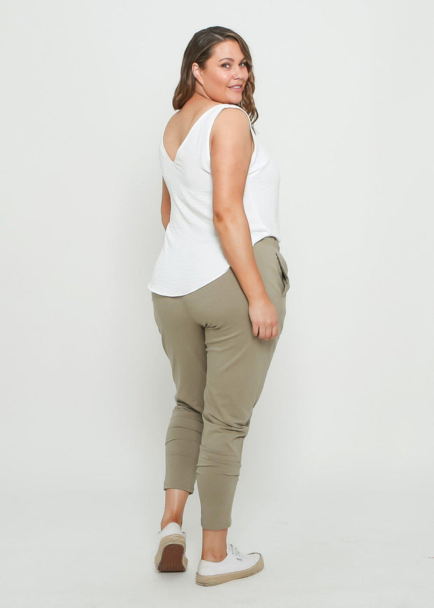Preorder Tana Track Pants - Khaki-Pants-Womens Clothing-ESTHER & CO.