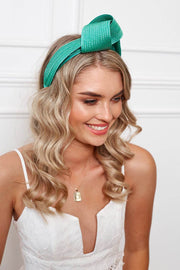 Presley Turban - Jade-Fascinators-Womens Accessory-ESTHER & CO.