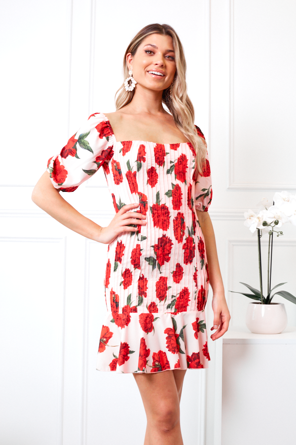 Princessa Dress - Blush Print