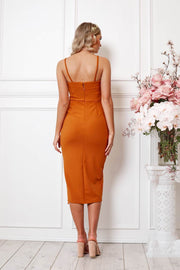 Puglia Dress - Rust-Dresses-Womens Clothing-ESTHER & CO.