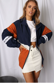 Raincheck Jacket - Navy-Jackets-Womens Clothing-ESTHER & CO.