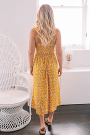 Ramona Dress - Yellow Print-Dresses-Womens Clothing-ESTHER & CO.