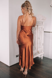 Reagan Dress - Bronze-Dresses-Womens Clothing-ESTHER & CO.