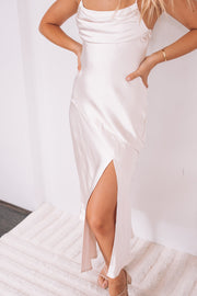 Reagan Dress - Champagne-Dresses-Womens Clothing-ESTHER & CO.
