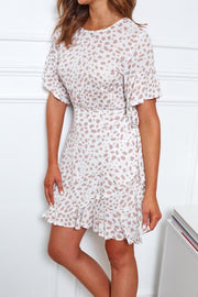 Reed Dress - White Print-Dresses-Womens Clothing-ESTHER & CO.
