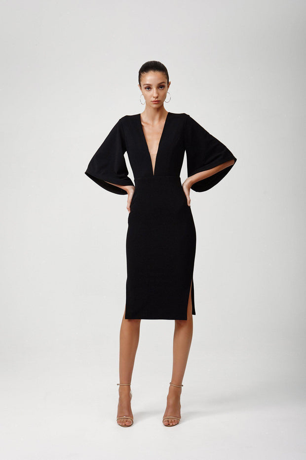 Rema Dress - Black-Dresses-Womens Clothing-ESTHER & CO.