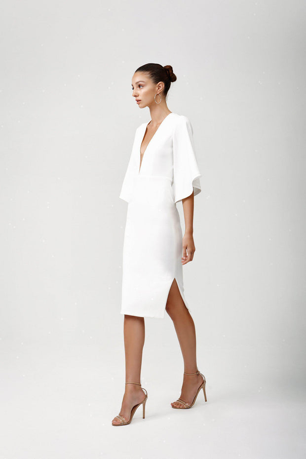 Rema Dress - White-Dresses-Womens Clothing-ESTHER & CO.