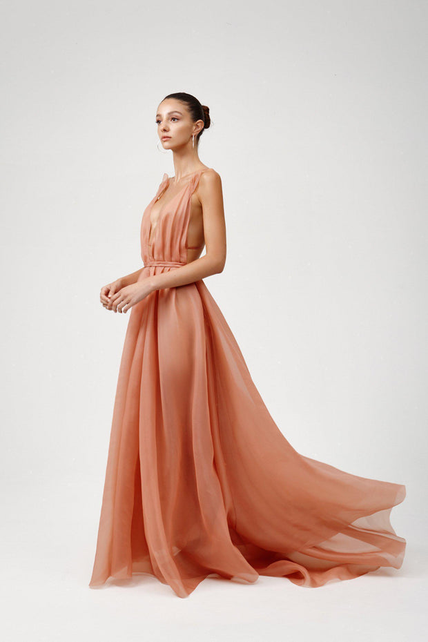 Rochelle Dress - Coral-Dresses-Womens Clothing-ESTHER & CO.