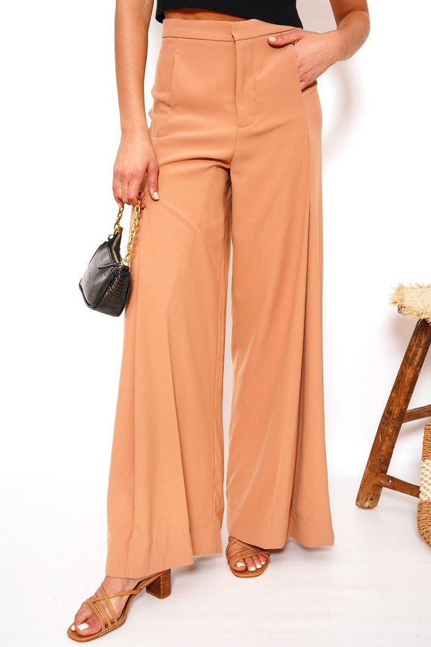 Rock Pants - Camel-Pants-Womens Clothing-ESTHER & CO.