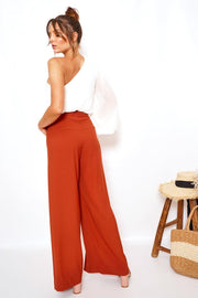 Rock Pants - Rust-Pants-Womens Clothing-ESTHER & CO.