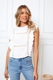 Romantica Top - White-Tops-Womens Clothing-ESTHER & CO.