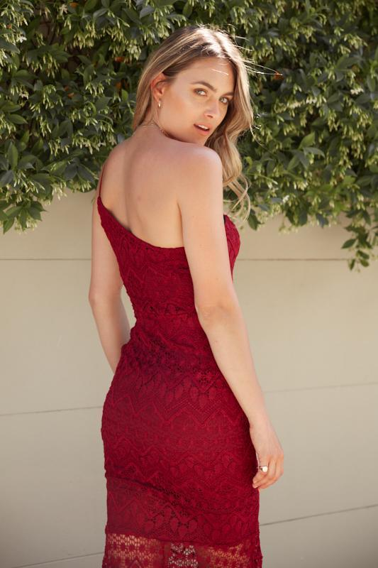 Rosalind Dress - Burgundy