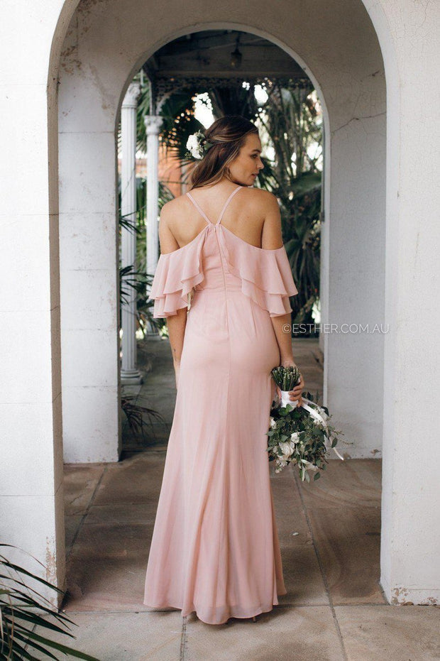 Rose maxi dress - dark blush-Dresses-Esther Luxe-ESTHER & CO.