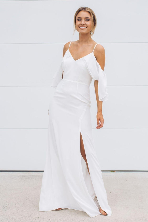 Rose Maxi Dress - Ivory-Dresses-Esther Luxe-ESTHER & CO.