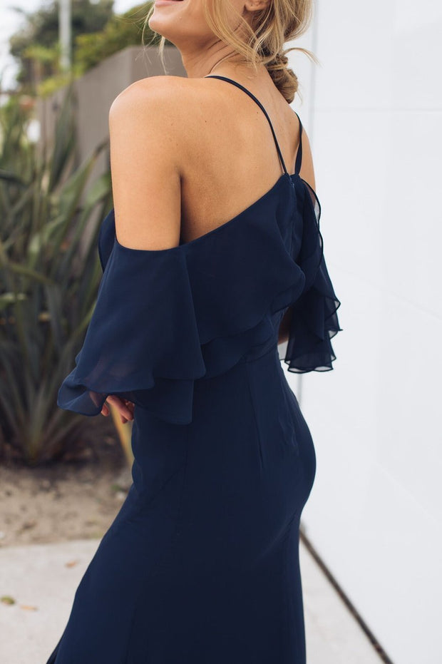Rose Maxi Dress - Navy-Dresses-Esther Luxe-ESTHER & CO.