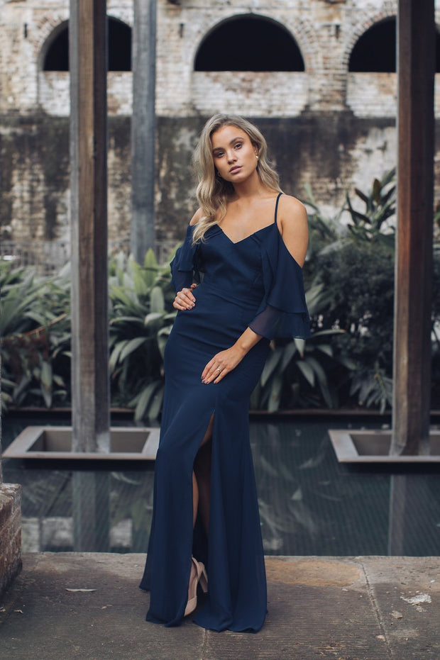 Rose Maxi Dress - Navy