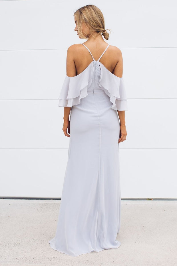 Rose Maxi Dress - Silver-Dresses-Esther Luxe-ESTHER & CO.