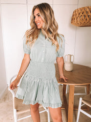 Sabrina Dress - Sage-Dresses-Womens Clothing-ESTHER & CO.