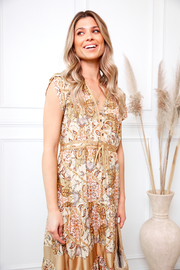 Sahaara Dress - Mustard-Dresses-Womens Clothing-ESTHER & CO.