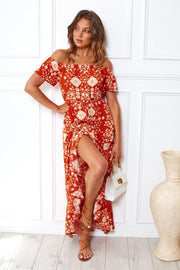 Salamanda Dress - Orange Print-Dresses-Womens Clothing-ESTHER & CO.