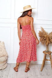 Salsa Dress - Red Print