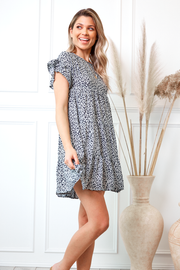 Skittle Dress - Navy Print-Dresses-Womens Clothing-ESTHER & CO.