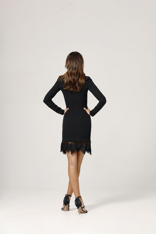 Skylar Dress - Black-Dresses-Womens Clothing-ESTHER & CO.