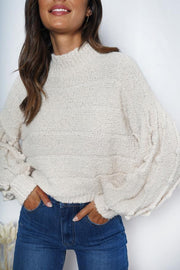 Snowfall Knit - Cream-Tops-Womens Clothing-ESTHER & CO.
