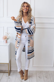 Snuggles Cardigan - Stripe-Cardigans-Amorini the label-OS-ESTHER & CO.