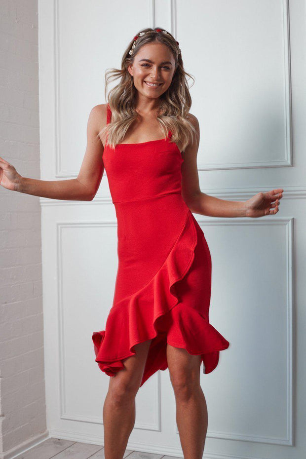 Soar Dress - Red-Dresses-Womens Clothing-ESTHER & CO.