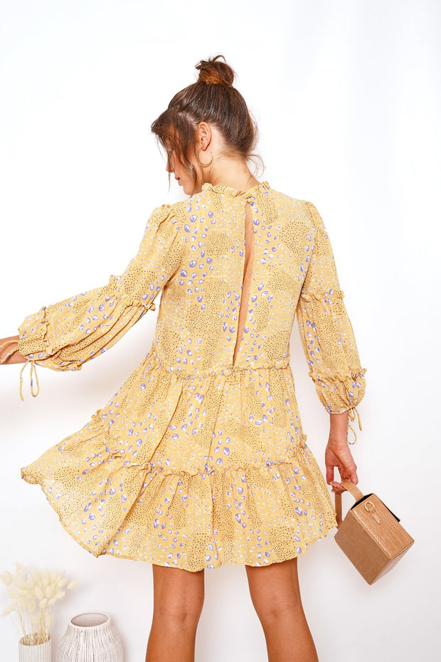 Soleil Dress - Yellow Print