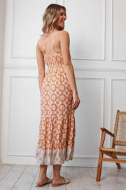 Spice Dress - Orange Print-Dresses-Womens Clothing-ESTHER & CO.