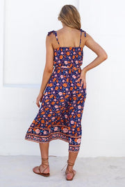 Subu Dress - Navy Print
