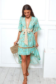 Tahiti Dress - Aqua Print