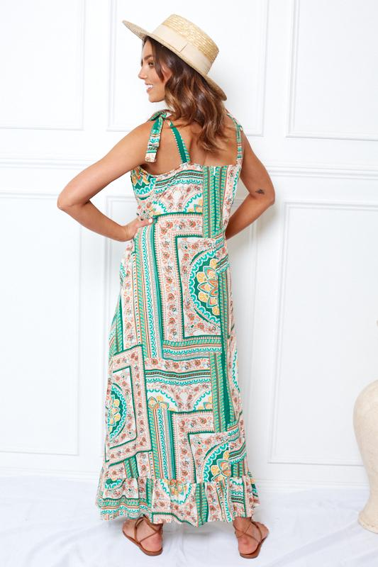 Talla Dress - Green Print